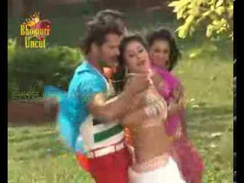 Hot Song Shoot Of Bhojpuri Film 'jaaneman'  Khesari Lal And Priyanka Pandit  2 video