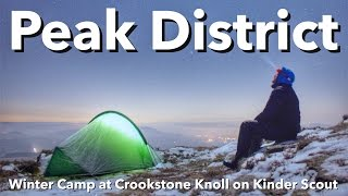 Peak District - Winter Camp at Crookstone Knoll on Kinder Scout