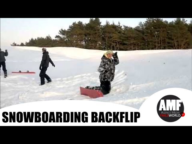 Snowboarding Backflip Goes wrong
