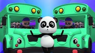 bánh xe trên xe buýt | bài hát giáo dục | thơ thiếu nhi | Baby Bao Panda | The Wheels On The Bus
