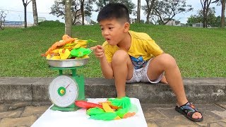 Trò Chơi Bán Cá và Đồ Hải Sản Đồ Chơi  ❤ Surich ToysReview TV ❤ Đồ Chơi Trẻ Em Baby Selling Fish Toy