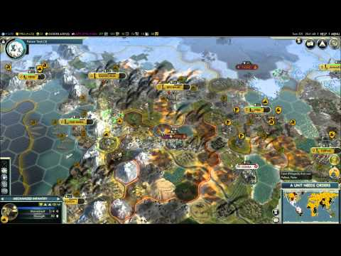 Civilization V - Episode 9, part 13 - Russia vs Japan & Mongolia