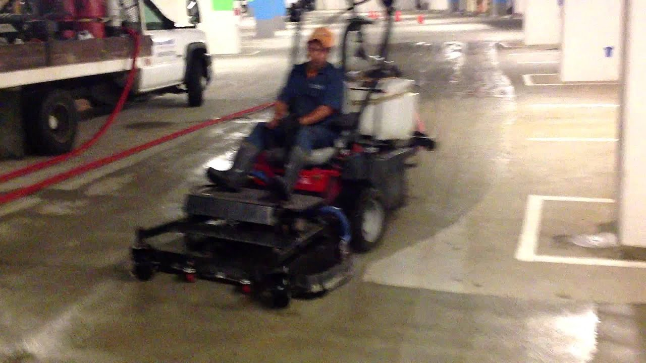 Swabby 48 riding recovery surface cleaner youtube for Best rated concrete cleaner