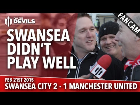 'Swansea Didn't Play Well' | Swansea City 2 Manchester United 1 | FANCAM