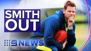 Steve Smith has been ruled out of the third Ashes test | Nine News Australia