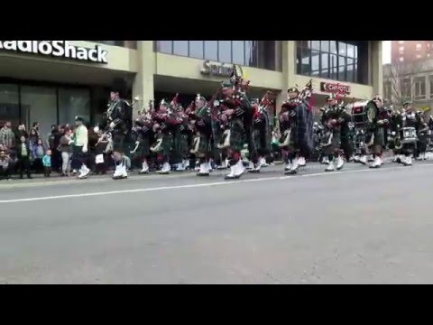 2016 Greater New Haven St  Patrick's Day Parade Post Road Photos video 025