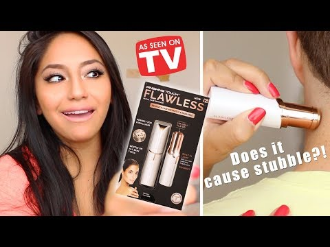 Finishing Touch Flawless (HAIR REMOVER)- DOES IT CAUSE STUBBLE?!? REVIEW. DEMO