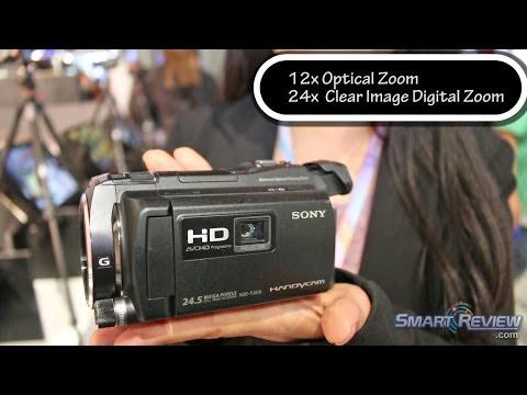 CES 2014: Sony Handycam HDR-PJ810 Projector Camcorder   WiFi   PJ810/B   Balanced Optical SteadyShot