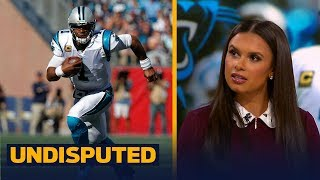 Cam Newton laughs at female reporter's question - Joy, Skip and Shannon react | UNDISPUTED