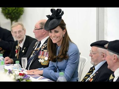 D-Day anniversary: Duke and Duchess of Cambridge meet veterans