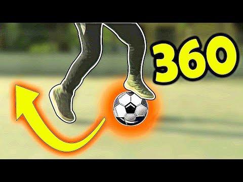 How to do Ronaldo , Messi , Neymar Football skill Dribble 360 tutorial (Hindi)