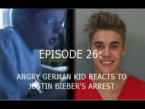 Agk Ep 26 Angry German Kid Reacts To Justin Bieber's Arrest video