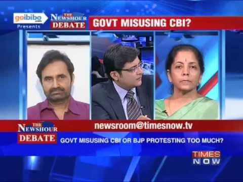 The Newshour Debate: Is the Government using CBI or BJP protesting too much? (Part 1 of 3)