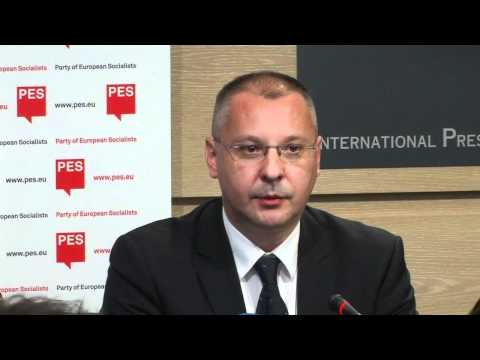 Press Conference of Sergei Stanishev & Victor Ponta