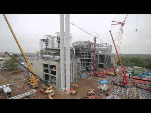 The construction of Grimshaw's new energy-from-waste facility in Great Blakenham