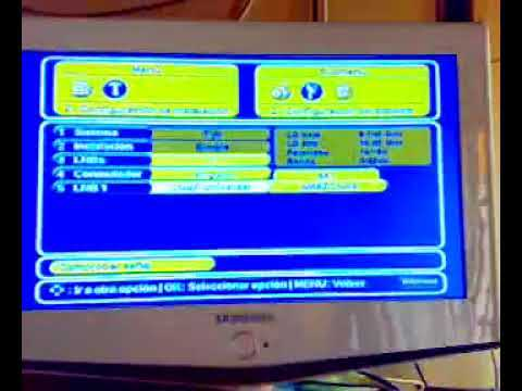 Accediendo al menu de programacion Deco Telefonica Echostar