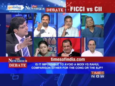 The Newshour Debate: Narendra Modi in FICCI vs Rahul Gandhi in CII, who scores? (The Full Debate)