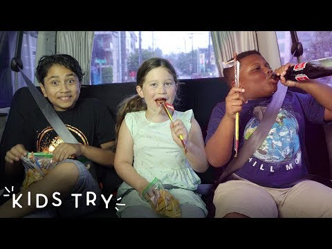 Kids Try Road Trip Snacks on the Road | Kids Try | HiHo Kids