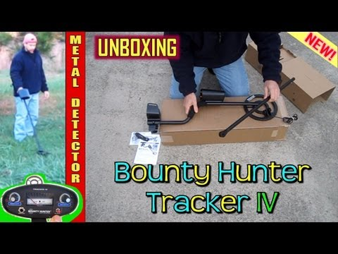 Bounty Hunter TRACKER IV Metal Detector UNBOXING and first use. 4 four gold treasure hunting