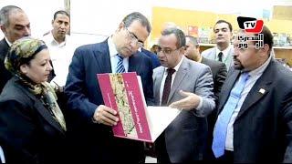 رئيس جامعة المنصورة يفتتح معرض الكتاب