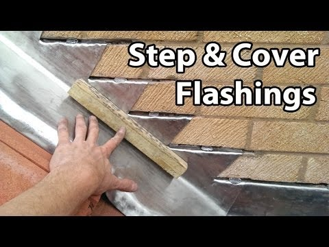 How To Install Step And Cover Flashing For Roof Tiles