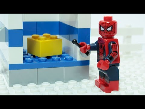 Lego Spider-man Matching Brick Objects Superheroes Funny Animation