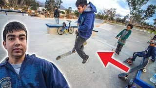 KID DOES FIRST SCOOTER TRICK!