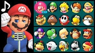 Super Mario Party Music - Singing Voices All Characters