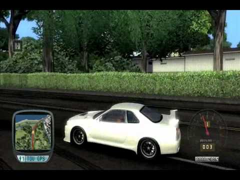 TDU NISSAN SKYLINE R34 GTR 636hp+TOP SECRET BODYKITS AND SOUND MODBOV & SCREAMER PIPE
