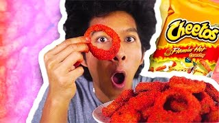 DIY HOW TO MAKE HOT CHEETO ONION RINGS!!!