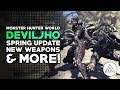 Monster Hunter World | Deviljho Gameplay, Spring Blossom Event, New Weapons & More!
