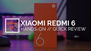 Xiaomi Redmi 6 Hands-On, Quick Review