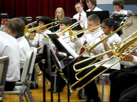 River Bend Middle School Claremont NC 7th Grade band Band.AVI