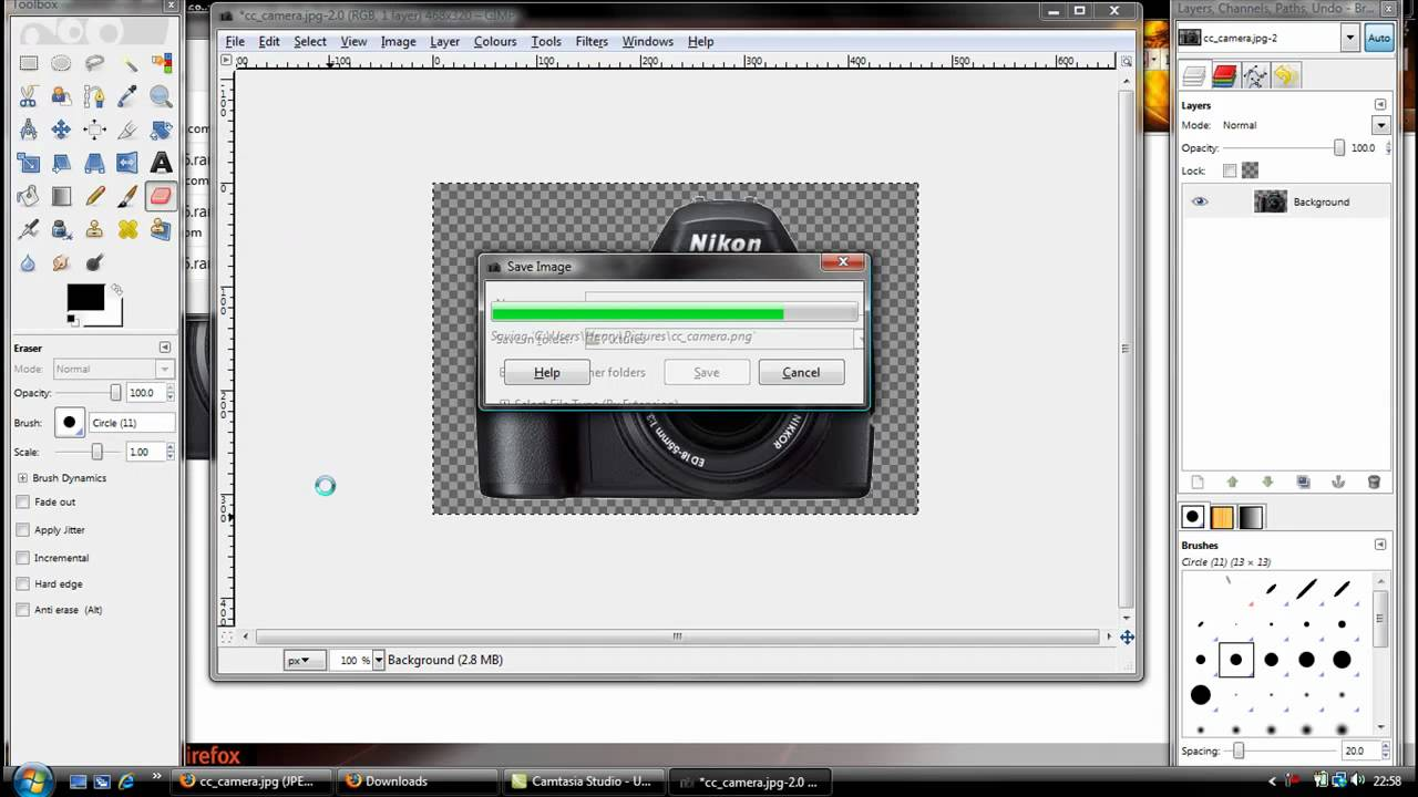 how to make watermark in gimp 2.8