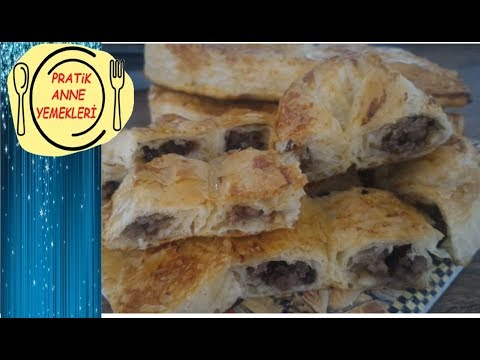 Baklava Yufkası ile  Kıymalı Börek (Pratik Sarıyer Böreği)