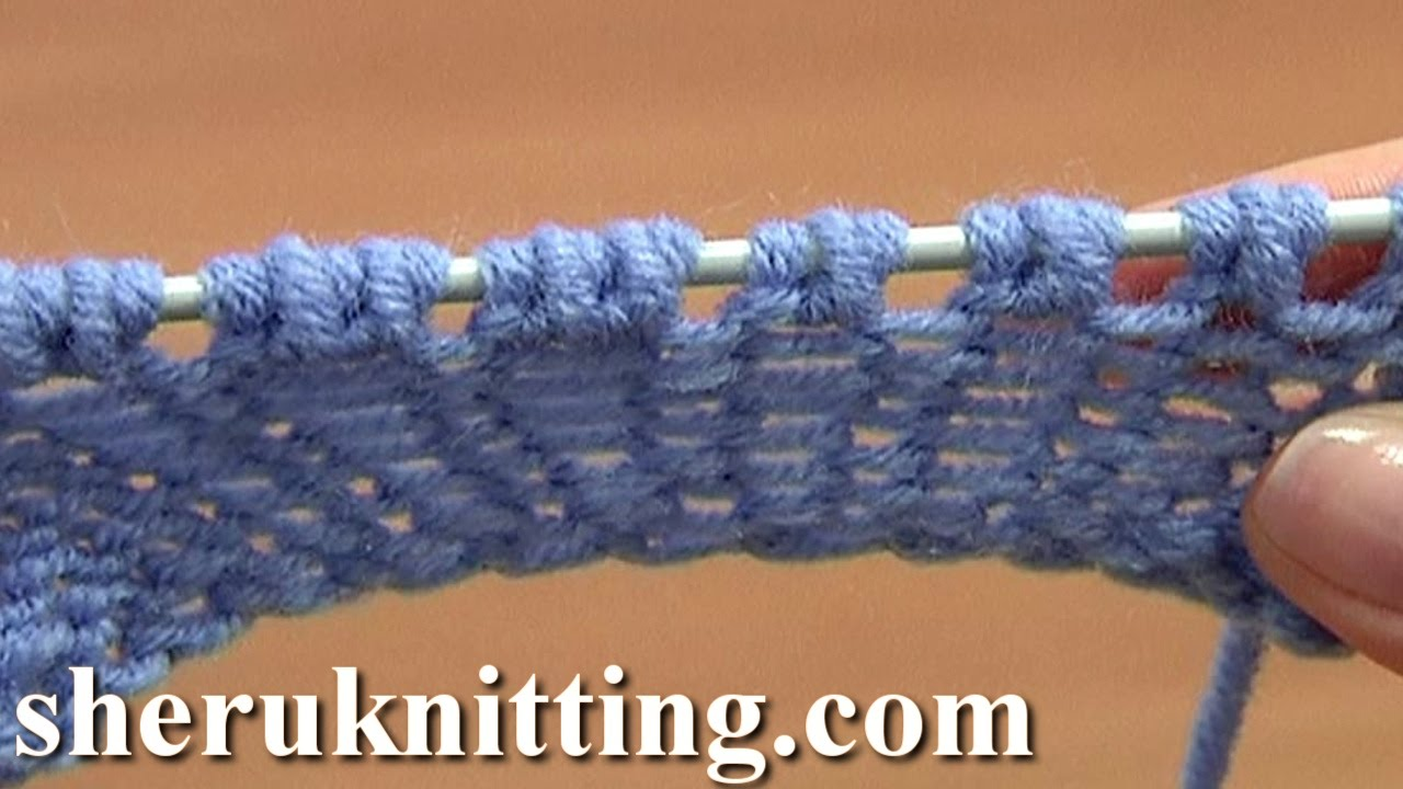 Knitting Yarn Over Purl Stitch : Increase purl yarn over tutorial part of