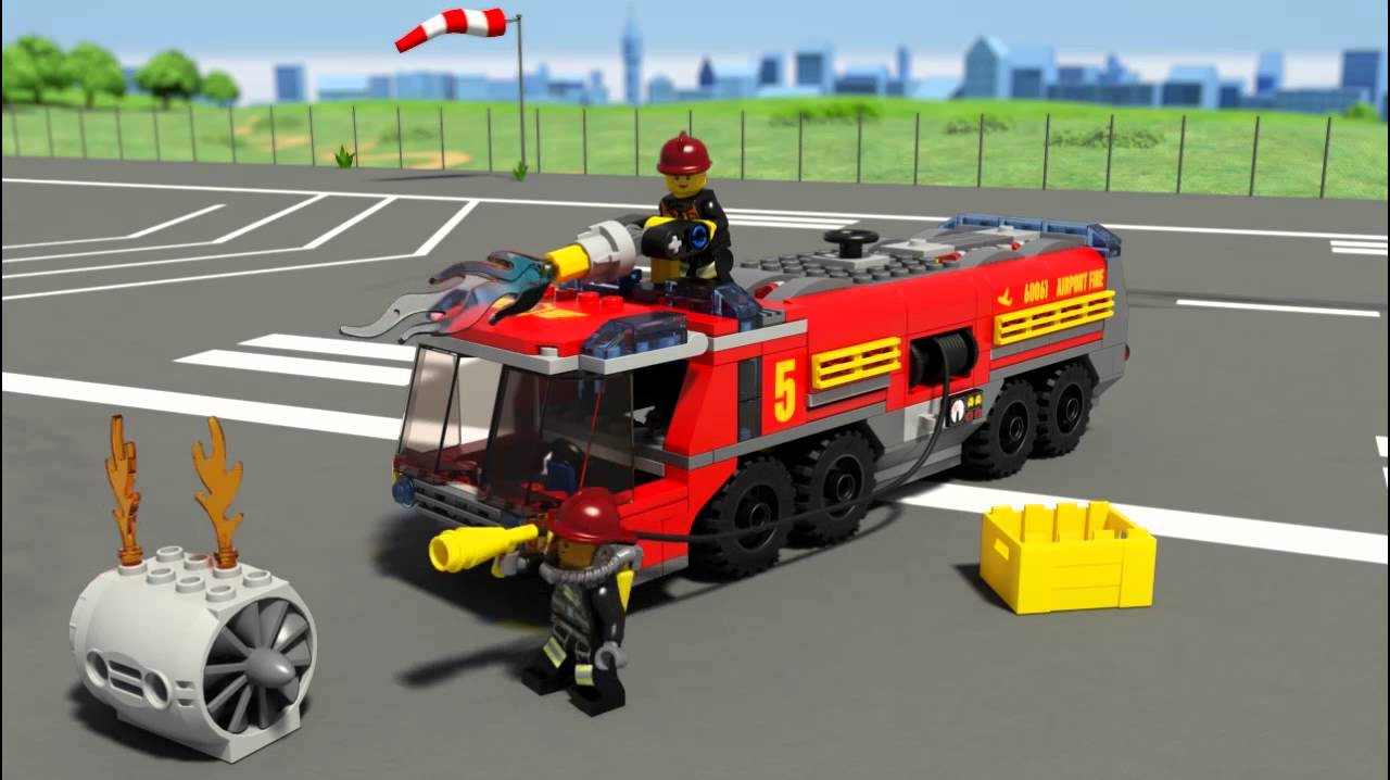 Lego Fire Trucks in Action Airport Fire Truck | Lego