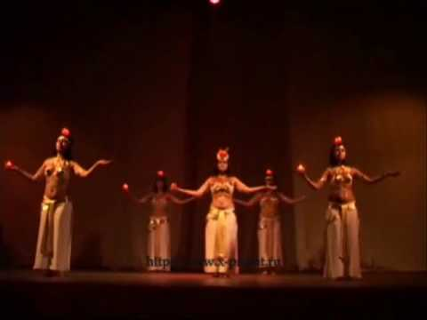 Bellydance Pharaonic with candles. Фараоник со свечами, танец живота.
