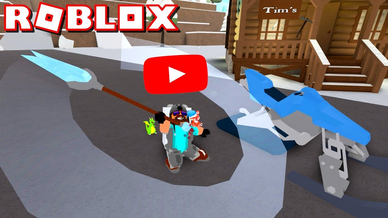 EXCLUSIVE YOUTUBER RANK + 275 ROBUX ICE SPEAR!! | ROBLOX SNOW SHOVELING SIMULATOR