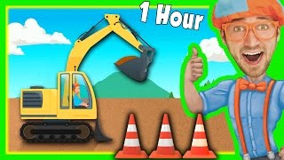 Diggers for Children with Blippi and More | 1 Hour Long!