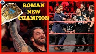 Roman New Champion | WWE Raw 20/11/2017 Highlights Segments