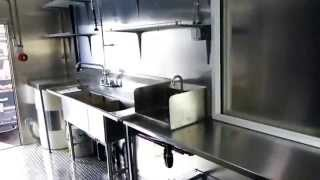 Mobile Pizza Catering Food Trailer Double Axle (inside kitchen)