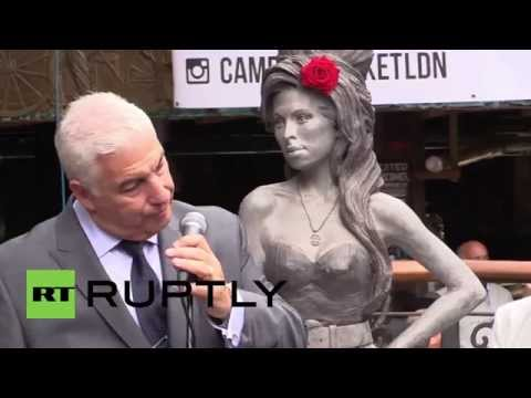 UK: Statue to 'superb bird' Amy Winehouse unveiled in London