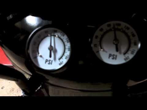 Harbor Freight central pneumatic 29 gallon 2hp 150psi air compressor model 68127 0-150psi run