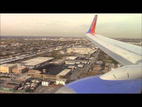 Incredible Approach and Landing at Chicago Midway Airport on Southwest Airlines