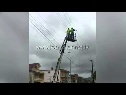 Dëmtohen linjat elektrike - Top Channel Albania - News - Lajme