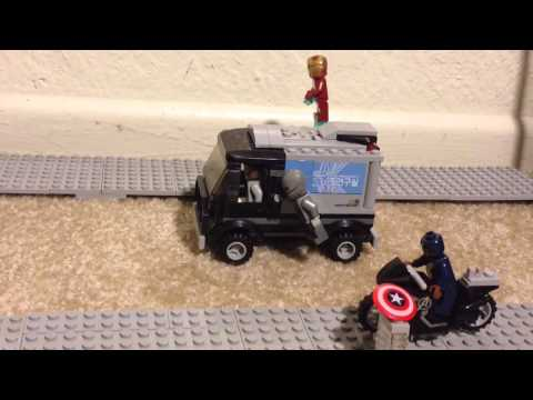 Lego Avengers Age of Ultron stopmotion: The Avengers Quinn Jet City Chase