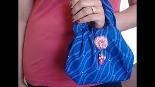 How to make no sew  mini bag in 2 minutes- Request video