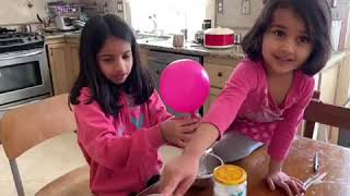 Science experiment by Vidhi and Krisha