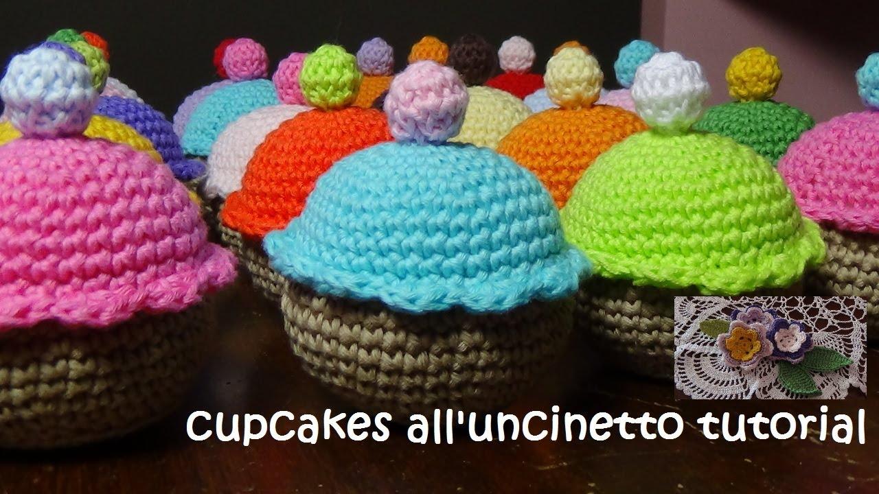 Amigurumi Tutorial Uncinetto : dolcetti alluncinetto tutorial (cupcakes) - YouTube